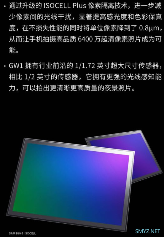 三星GW1 6400万像素和索尼IMX586 4800万像素CMOS哪个更强