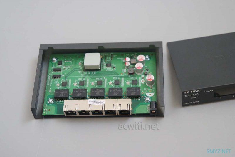 TP-LINK TL-SH1005五口2.5G交换机拆机与简单测试